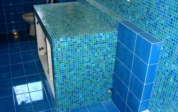 Bagni Blu Mosaico : Mosaico da interno da bagno da parete in ceramica styling